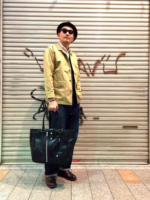 Schott Kobematsuuraさんのハット「Schot/ショット/STINGY/FELT HAT/ フェルトハット(schott|ショット)」を使ったコーディネート
