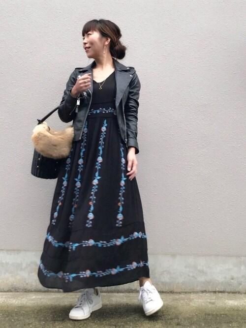 acoさんの「刺繍入りドレス XS(ZARA)」を使ったコーディネート