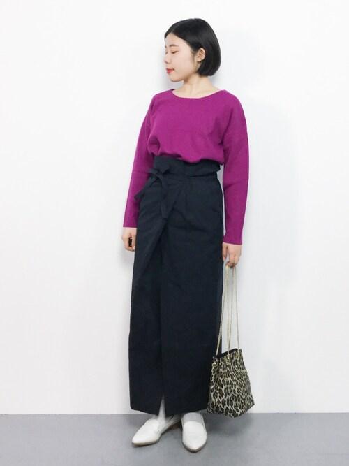 ZOZOTOWN おかきさんのスカート「ラップ風スカート(URBAN RESEARCH Sonny Label|アーバンリサーチサニーレーベル)」を使ったコーディネート