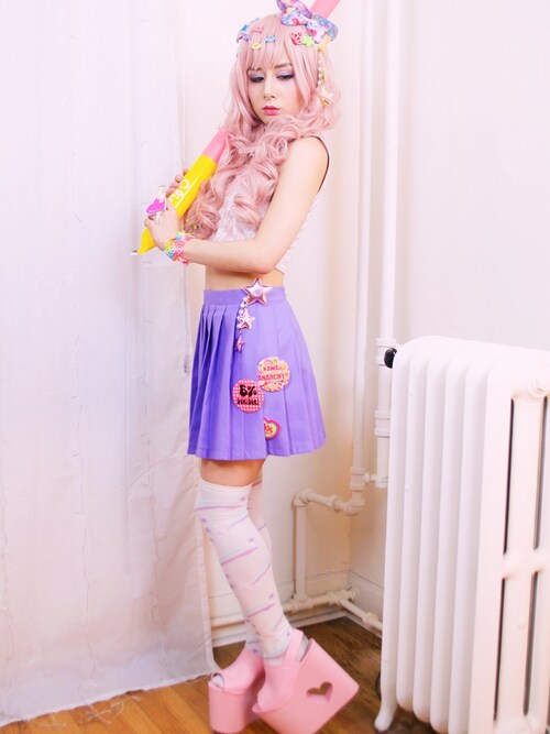 LovelyBlasphemy is wearing BODYLINE