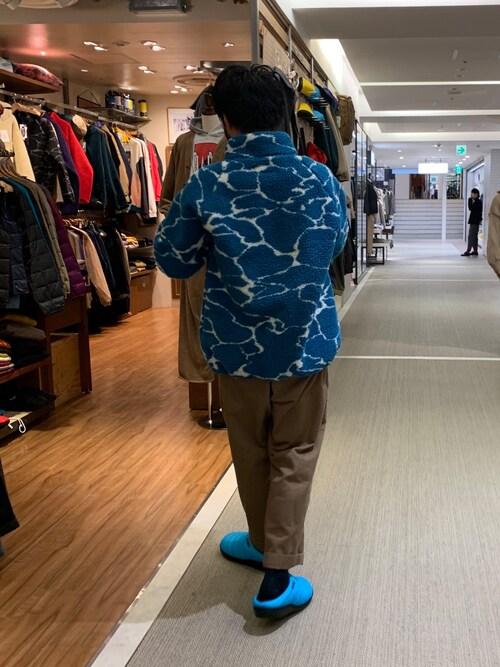 BEAVER池袋店 Kato Taroさんのブルゾン「MANASTASH/マナスタッシュ LITHIUM FLEECE リチウムフリース ボアフリース(MANASTASH|マナスタッシュ)」を使ったコーディネート