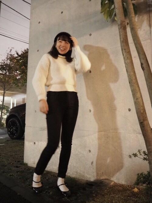 勝田里奈さんのバレエシューズ「ROSE, BALLERINA / V1197V [35-38 / Black ](repetto|レペット)」を使ったコーディネート