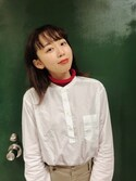 勝田里奈 is wearing UNIQLO