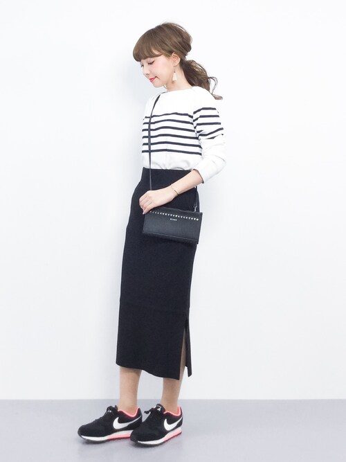 ayumi ;)さんの「FORK&SPOON Striped Boatneck Sweater(FORK&SPOON)」を使ったコーディネート