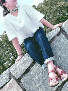Taiyou(たいよう)さんの「SuntialロゴワッフルT(Suntial|サンシャル)」を使ったコーディネート