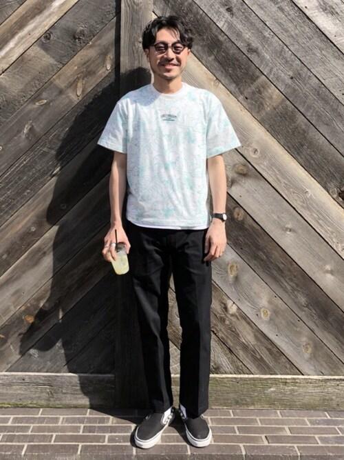 メンズフェスファッションコーデ【屋内】 Tシャツ・カットソー 画像1