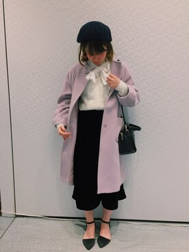 "MAI is wearing WEGO ""WEGO/フェルトベレー帽"""