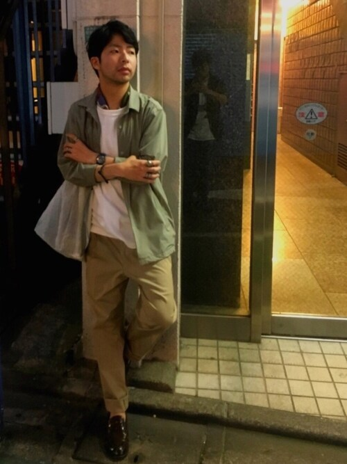 TRANS CONTINENTS 吉祥寺パルコ店Masahiro  Makimotoさんのブルゾン「4WAYストレッチコーチジャケット(TRANS CONTINENTS トランスコンチネンツ)」を使ったコーディネート