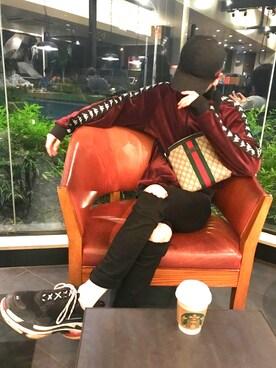 e845e2b5074cd5 としさんの(GUCCI|グッチ)を使ったコーディネート. 2018.7/2. Gucci(グッチ)の「Gucci Linea Dragoni  Medium GG Supreme Canvas Chain Shoulder Bag