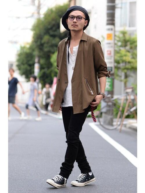 DFTOKYOAkiさんの「1Bシャツ(Azuma.)」を使ったコーディネート