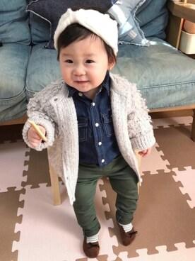 5d014d06b2d58 シャツ・ブラウスを使った「赤ちゃんコーデ」のコーディネート一覧 - WEAR
