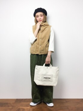 ZOZOTOWN|ずちに。さんの「TRAVEL COUTURE by LOWERCASE キャンバストートバッグM(URBAN RESEARCH)」を使ったコーディネート