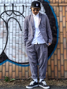 【CAMBIO(カンビオ)】 パンツ Cotton Linen Stretch Tuck Wide Tapered Pants
