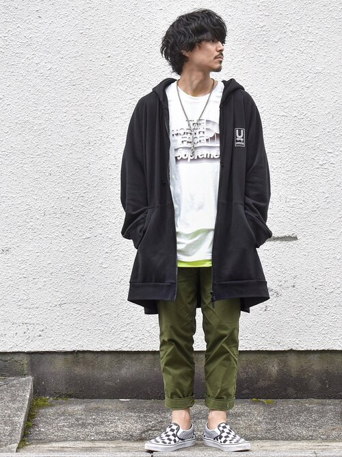 DecoさんのTシャツ/カットソー「ギルダン ビッグシルエット USAオーバーサイズ 1/2スリーブTシャツ(GILDAN|ギルダン)」を使ったコーディネート