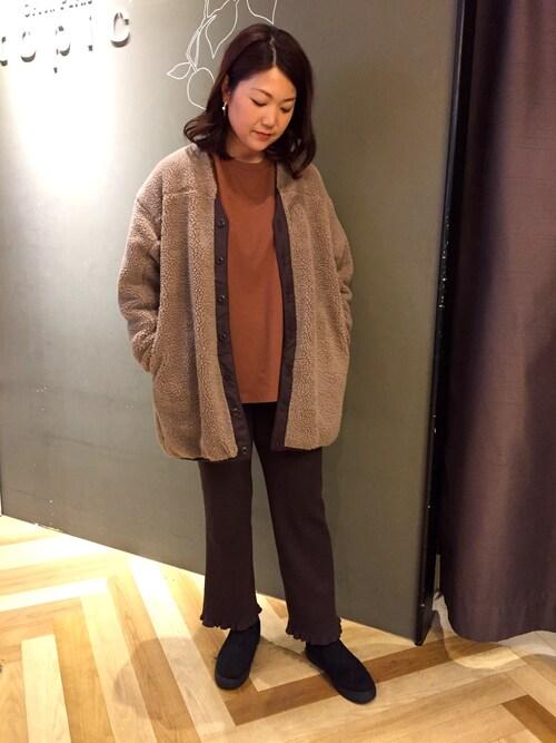 Green ParksKana ToyodaさんのTシャツ/カットソー「・【SUGAR SPOON】 ラグランロンT*(Sugar spoon シュガースプーン)」を使ったコーディネート