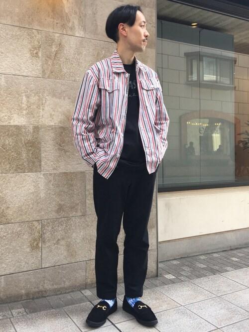 Keisuke Oosukaさんの「【予約】【別注】 <MANEBU> BITCH SUEDE LTR/ローファー(MANEBU)」を使ったコーディネート