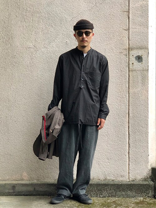 ilk_officialさんの「FRANK LEDER TRIPLE WASHED COTTON SHIRT TOP COL.99」を使ったコーディネート