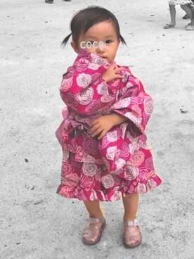 020f7476f11967 Cai ୨୧ cocoさんの「バラ柄セパレート浴衣(BRANSHES|ブランシェス)」