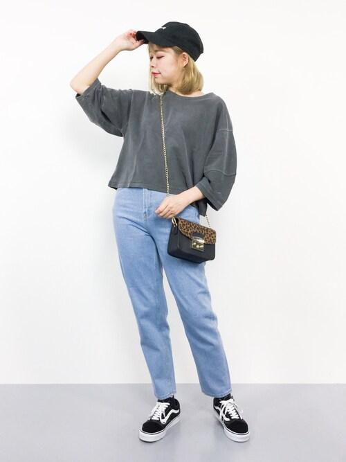 ZOZOTOWNENAさんのTシャツ/カットソー「ランタン袖ビッグ裏毛プルオーバー(niko and...|ニコアンド)」を使ったコーディネート