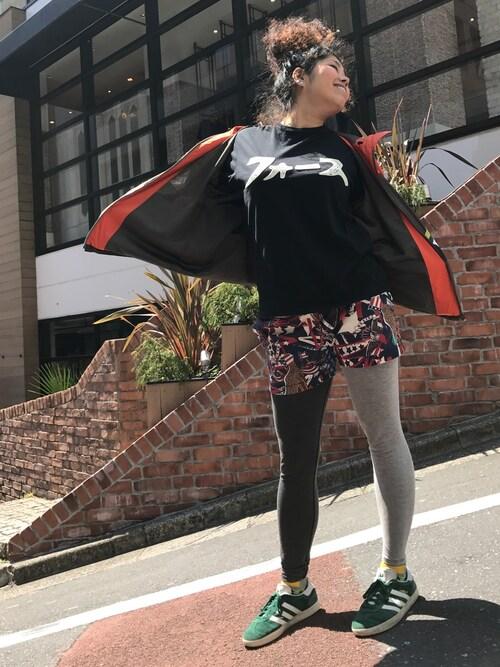 ALDIES SHIBUYAモジャ子さんのTシャツ/カットソー「Force Embroidery T / フォースエンブロイダリーT(ALDIES|アールディーズ)」を使ったコーディネート