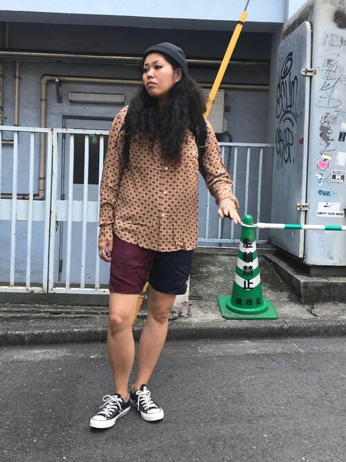 ALDIES SHIBUYAモジャ子さんのキャップ「Roll Cap / ロールキャップ(ALDIES アールディーズ)」を使ったコーディネート
