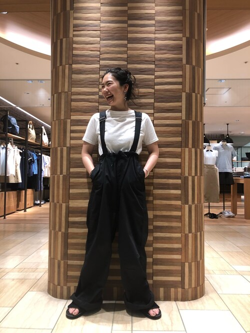 BEAVER名古屋店 小林さんのTシャツ/カットソー「FANEUIL/ファヌル BOAT NECK SS TEE (6002)(FANEUIL|ファヌル)」を使ったコーディネート