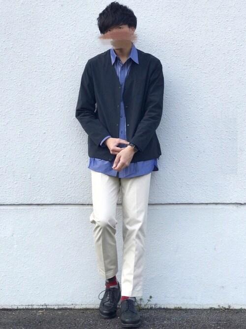にっしーさんのシャツ/ブラウス「クールマックスタイプライターシャツ(MYSELF ABAHOUSE|マイセルフアバハウス)」を使ったコーディネート