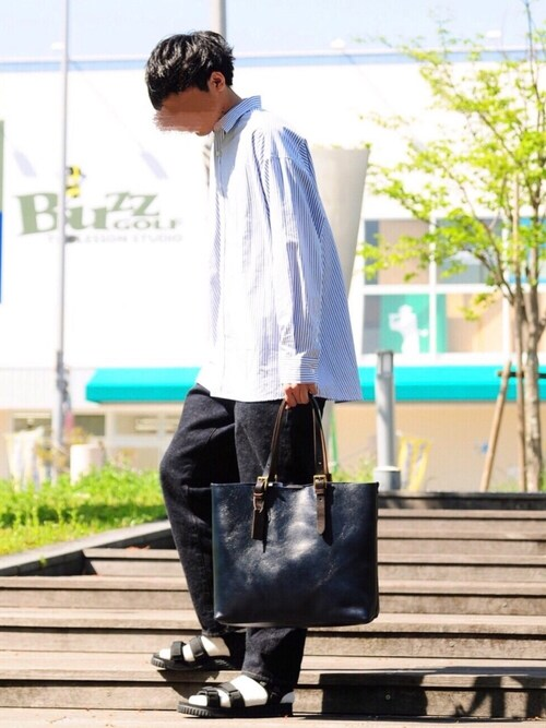 にっしーさんのサンダル「別注カラー有【SHAKA / シャカ】NEO BUNGY(SHAKA|シャカ)」を使ったコーディネート