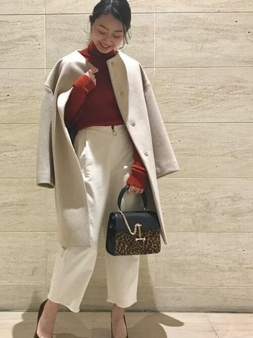 Noble 有楽町店miyuuさんのパンツ「モールスキンフロントジップパンツ◆(NOBLE|ノーブル)」を使ったコーディネート