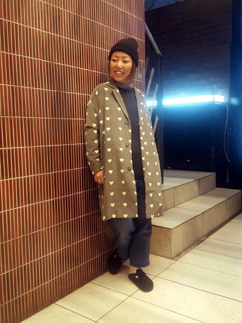 BEAVER渋谷店 Yamadaさんのチェスターコート「BOHEMIANS/ボヘミアンズ 別注WHITEHEART CORD COAT(BOHEMIANS|ボヘミアンズ)」を使ったコーディネート