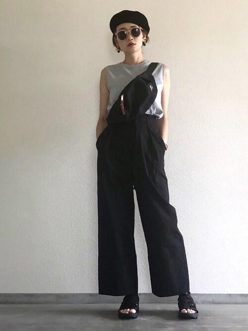 Yukie♡iさんのパンツ「フトダブルベルトワイドパンツ(HARE)(HARE|ハレ)」を使ったコーディネート