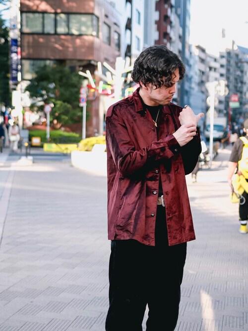 SubcietyHEADSHOP小原 壮大朗さんのシャツ/ブラウス「VELVET SHIRT(Subciety サブサエティ)」を使ったコーディネート