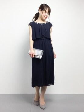 11204a5718736 ZOZOTOWN|natsumiさんのドレス「 結婚式・お呼ばれ対応ワンピースドレス