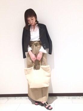 AuBANNISTER新宿髙島屋店|manami sudaさんの「BIGバックルミュール(AU BANNISTER|オゥ バニスター)」を使ったコーディネート