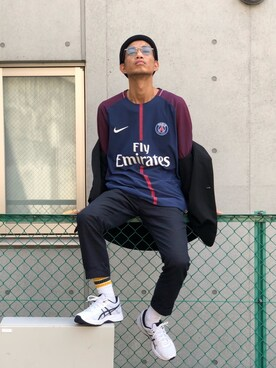 ニット・セーターを使った「サッカーユニフォーム」のメンズ
