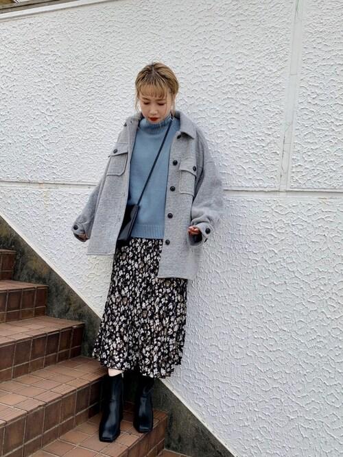 LOWRYS FARM ラフォーレ原宿店サトムラさんのニット/セーター「モチモチハイネックプルオーバー 806846(LOWRYS FARM|ローリーズファーム)」を使ったコーディネート
