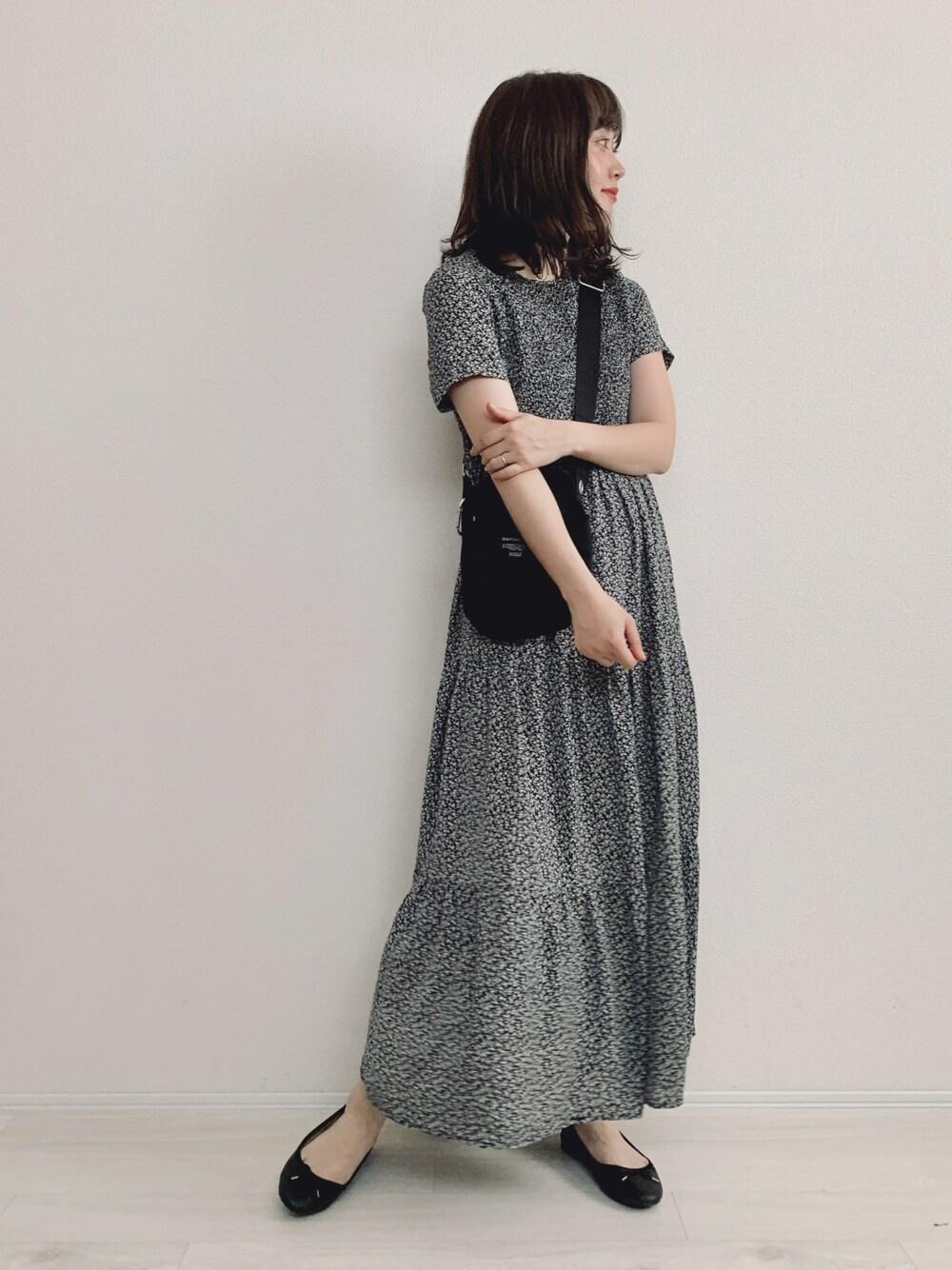 大人可愛い ワンピース 30代 ママ きれいめ カジュアル 夏 コーデ Xライン coca