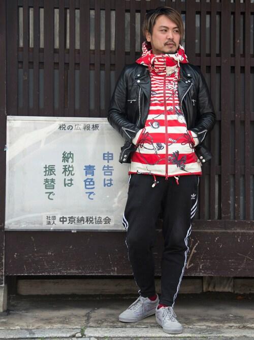 SPINNS 本部oillnomuraさんのライダースジャケット「UCA4201(UNDERCOVER|アンダーカバー)」を使ったコーディネート