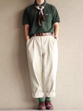 e3bcb6b5443274 ポロシャツを使った「緑」のメンズコーディネート一覧 - WEAR
