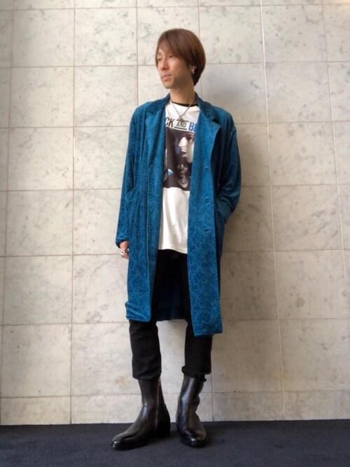 moikuさんの「サイドジップスリム ブーツ(HYSTERIC GLAMOUR)」を使ったコーディネート