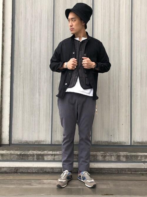 Uncut Bound 札幌Yasunori Chijiwaさんのスニーカー「REPRODUCTION OF FOUND (リプロダクション オブ ファウンド ) フレンチトレーナー ミリタリースニーカー(REPRODUCTION OF FOUND|リプロダクションオブファウンド)」を使ったコーディネート