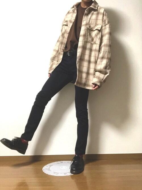 DAIさんの「CPOシャツジャケット(フラップポケットシャツジャケット)【youtuberげんじくん紹介商品】(kutir)」を使ったコーディネート