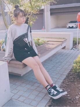 デニムスカートを使った「中学生」のキッズコーディネート一覧