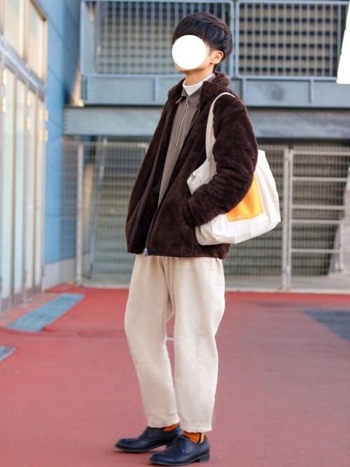 GPさんの「フラッフィーフリースフルジップジャケット(長袖)(ユニクロ)」を使ったコーディネート