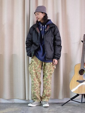 caifenglao使用(Engineered Garments)的時尚穿搭