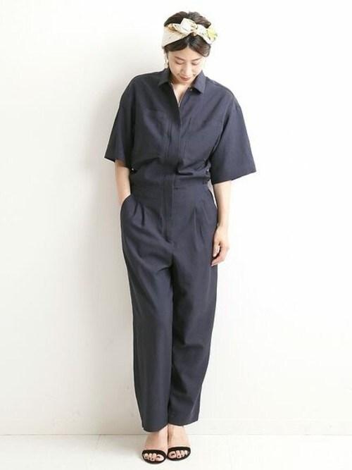 91efa818155c09 VERMEIL par iena 銀座店|fukiさんのつなぎ/オールインワン「フライフロントジャンプ