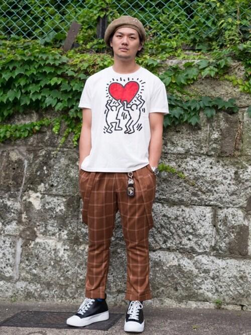 glamb tokyo【glamb】田上翔さんのその他パンツ「Sinmel suspenders pants / シンメルサスペンダーパンツ(glamb|グラム)」を使ったコーディネート