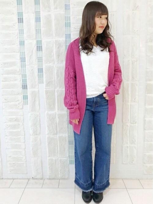 UNRELISH 名古屋PARCO店UNRELISH OFFICIALさんのシャツ/ブラウス「2WAYレースブラウス(UNRELISH|アンレリッシュ)」を使ったコーディネート