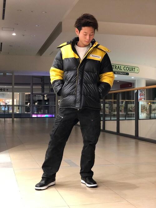 AVIREX ららぽーと横浜Ryoさんのダウンジャケット/コート「レザーダウンジャケット/LEATHER  DOWN JACKET(AVIREX|アヴィレックス)」を使ったコーディネート