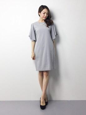 ZOZOTOWN|momokoさんのドレス「【結婚式 ワンピース】ボリュームスリーブ レース パール